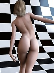Pretty realistic toon girl nude
